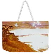Point Iroquois Pano Sunset Weekender Tote Bag