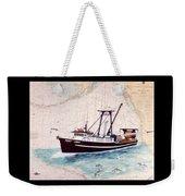 Point Loma Trawl Fishing Boat Nautical Chart Map Art Weekender Tote Bag