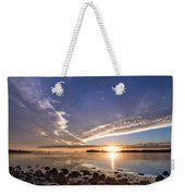 Point Of The Sunset Weekender Tote Bag