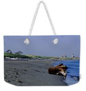 Point Wilson Lighthouse And Beach Weekender Tote Bag