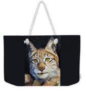 Pointed Advantage - Siberian Lynx Weekender Tote Bag
