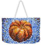 Pointillism Pumpkin Weekender Tote Bag
