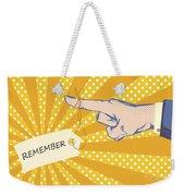 Pointing Finger Pop Art Vector Weekender Tote Bag