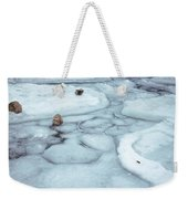 Points Of Winter Freeze Weekender Tote Bag