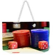 Poker Chips Weekender Tote Bag by Paul Ward