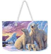 Polar Bear Family Weekender Tote Bag