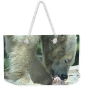 Polar Bear Feeding Weekender Tote Bag