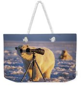 Polar Bear Investigating Photographers Weekender Tote Bag
