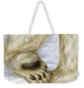 Polar Bear Paw Weekender Tote Bag