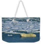 Polar Bear Wading Along Ice Floe Weekender Tote Bag