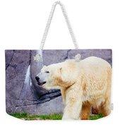 Polar Bear Walking Weekender Tote Bag