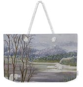 Polar Bears Crossing Weekender Tote Bag