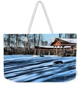 Pole Barns In The Winter Weekender Tote Bag