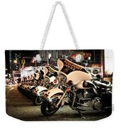 Police Bikes In New York Weekender Tote Bag