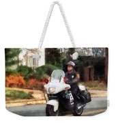 Police - Motorcycle Cop On Patrol Weekender Tote Bag