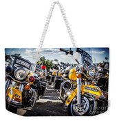 Police Motorcycle Lineup Weekender Tote Bag
