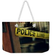 Police Tape Blocking Bloody Stairs Weekender Tote Bag