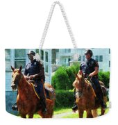 Police - Two Mounted Police Weekender Tote Bag