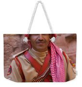 Policeman In Petra Jordan Weekender Tote Bag by David Smith