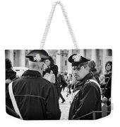 Policemen In Rome Weekender Tote Bag