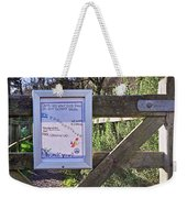 Polite Clean-up Sign Weekender Tote Bag