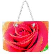 Polka Dot Beautiful Rose Weekender Tote Bag