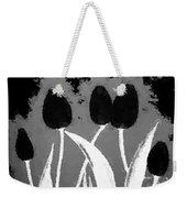 Polka Dot Black Tulips Weekender Tote Bag