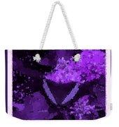 Polka Dot Butterfly Purple Weekender Tote Bag