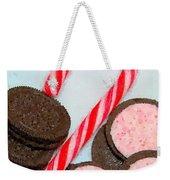 Polka Dot Candy Cane Cookies Weekender Tote Bag