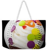 Polka Dot Cupcake Baseball Square Weekender Tote Bag