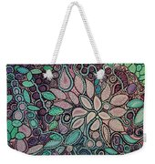 Polka Dot Flowers Weekender Tote Bag