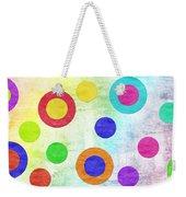 Polka Dot Panorama - Rainbow - Circles - Shapes Weekender Tote Bag by Andee Design