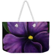 Polka Dot Purple African Violet Weekender Tote Bag