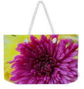 Polka Dot Purple Mum Weekender Tote Bag