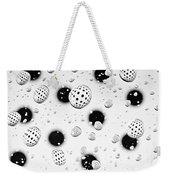 Polka Dots And Water Drops Weekender Tote Bag