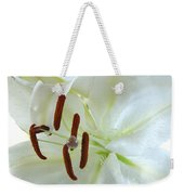 Pollinated White Tiger Lily Weekender Tote Bag