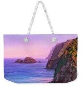 Pololu Valley Sunset Weekender Tote Bag