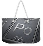 Polonium Chemical Element Weekender Tote Bag