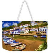 Polperro At Low Tide Weekender Tote Bag