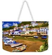 Polperro At Low Tide Weekender Tote Bag by David Smith