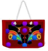 Polychrome Red Kimono Weekender Tote Bag