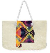 Polygon Mosaic Parchment Map Alabama Weekender Tote Bag