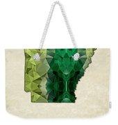 Polygon Mosaic Parchment Map Arkansas Weekender Tote Bag