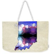 Polygon Mosaic Parchment Map Indiana Weekender Tote Bag