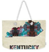 Polygon Mosaic Parchment Map Kentucky Weekender Tote Bag