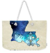 Polygon Mosaic Parchment Map Louisiana Weekender Tote Bag