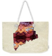 Polygon Mosaic Parchment Map Maine Weekender Tote Bag