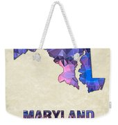 Polygon Mosaic Parchment Map Maryland Weekender Tote Bag