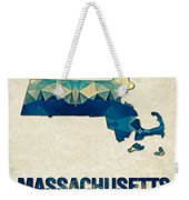Polygon Mosaic Parchment Map Massachusetts Weekender Tote Bag