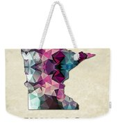 Polygon Mosaic Parchment Map Minnesota Weekender Tote Bag